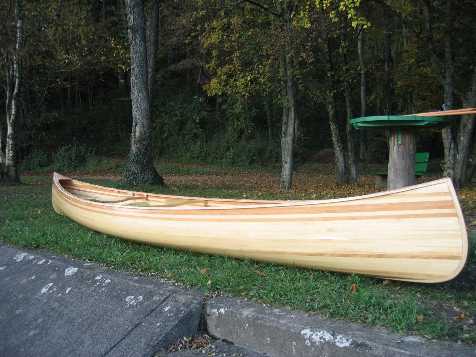 canoe with spruce