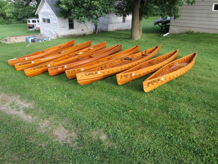 Some of my canoes, that are stored at my old place