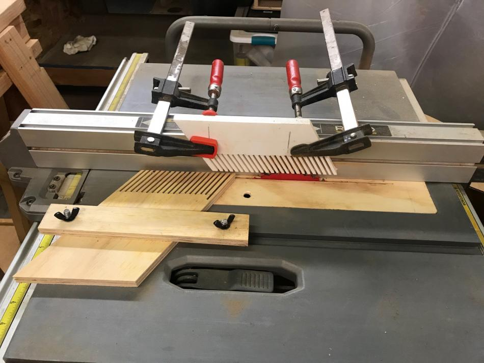 table saw set-up