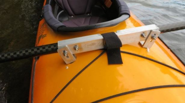 Paddle attachment to foredeck