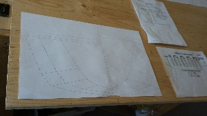 Plotted Kayak forms