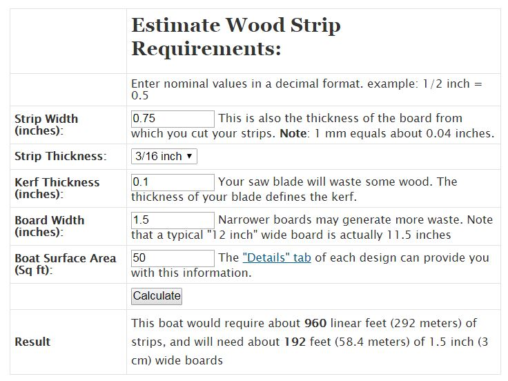 wood calculation