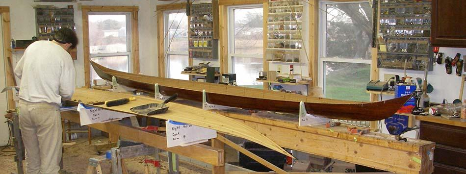 Building a wooden kayak