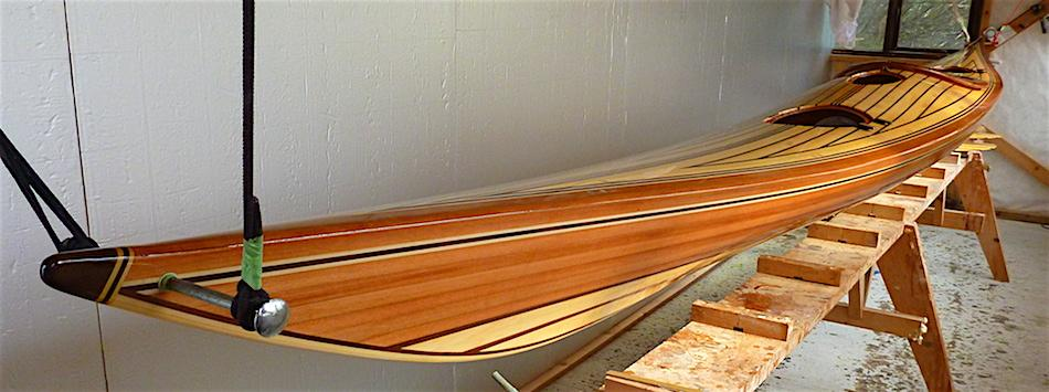 Varnishing a sea kayak