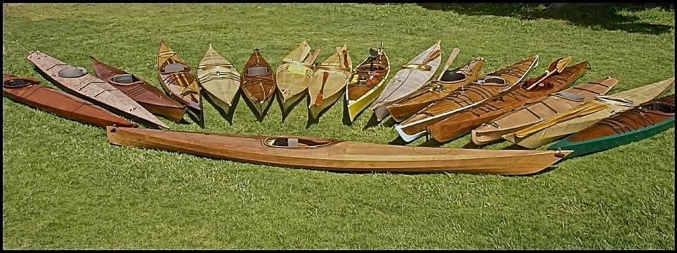 Wooden Kayak Builders Initiate A New Member